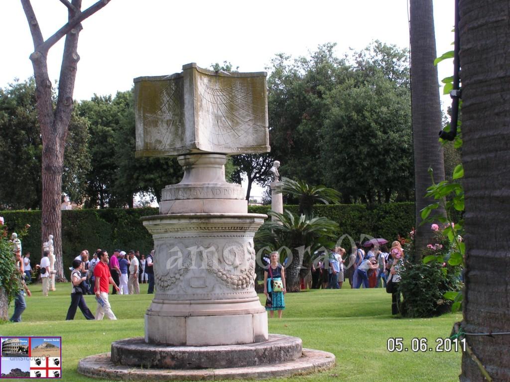 I giardini del quirinale l orologio solare amsicora02 - I giardini del quirinale ...
